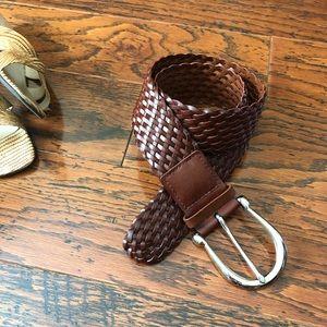Michael Kors Braided Genuine Leather Belt
